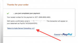 Screen Shot Paypal
